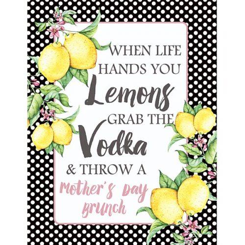 lemon mothers day brunch sign