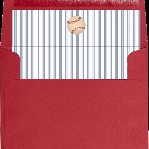 vintage baseball envelope liner