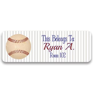 baseball personalized label