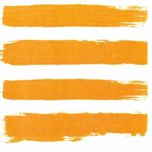 orange stripe beverage napkin