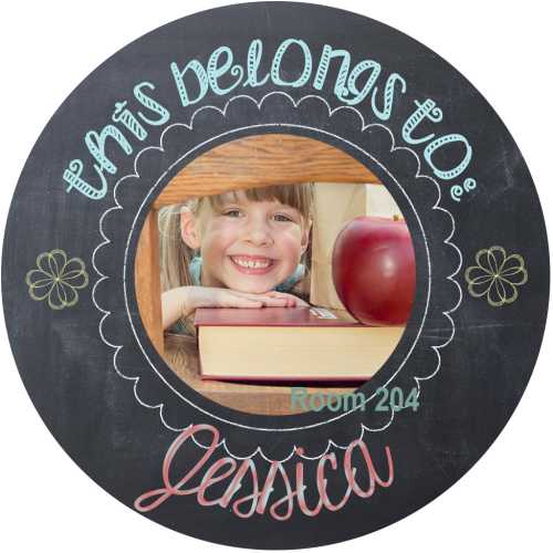 chalk personalized sticker