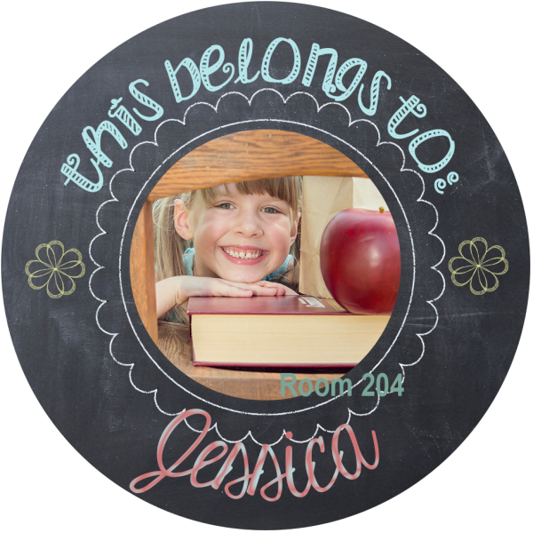 chalk personalized sticker