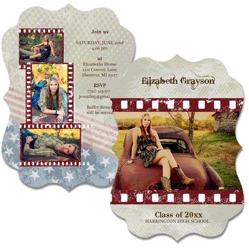 cowboy grunge grad card