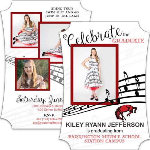 Musical Notes Graduation Card