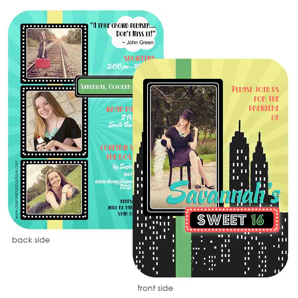 on broadway graduation invitation jennifer caminiti photo design