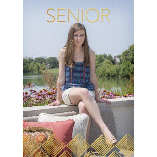 senior foil grad card