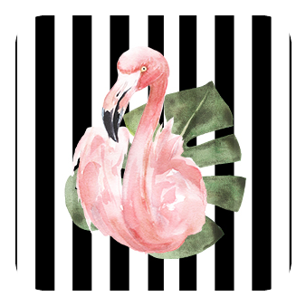flamingo address label and seal