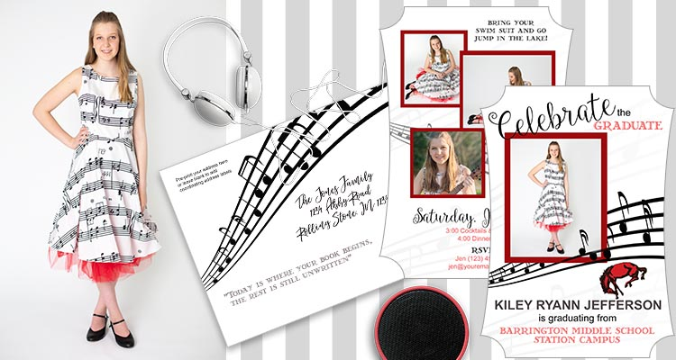 Musical photo shoot and invitation