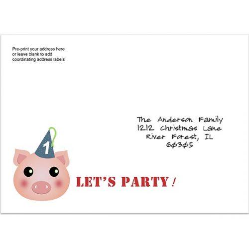 Baby Barnyard Printed Envelope