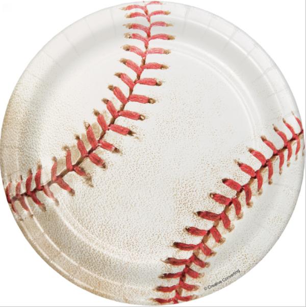 Baseball dessert plate