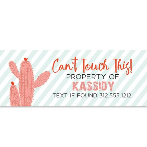 cactus personalized sticker