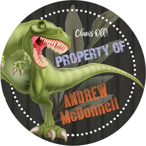 dinosaur 3x3 personalization sticker