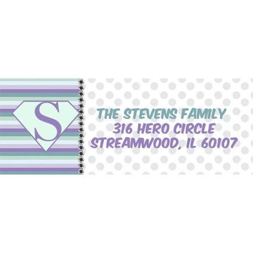 superhero address label