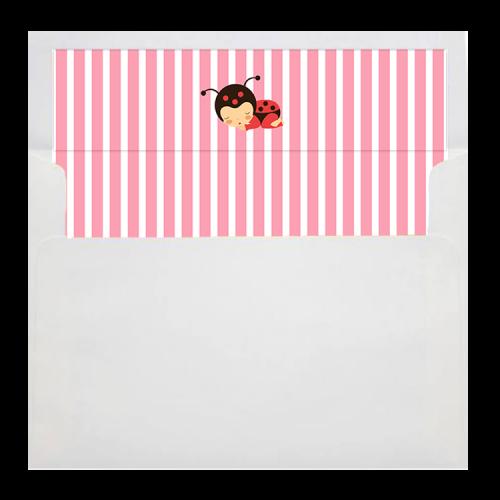 Ladybug envelope liner