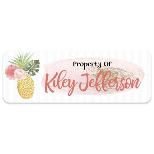 Gold Pineapple personalized sticker