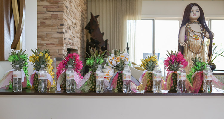 Flamingo party welcome gifts
