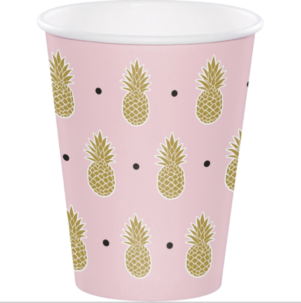 Pink and Gold Pineapple Cup