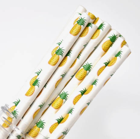 Pineapple Paper Straw