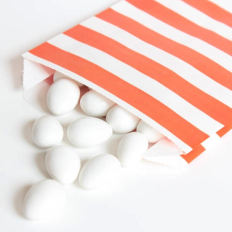 orange stripe treat bag