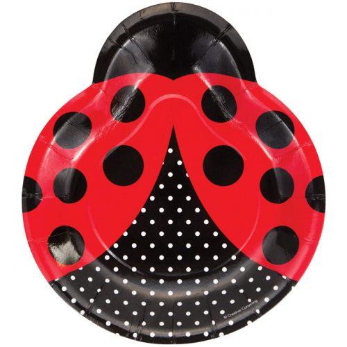 Ladybug shaped paper plate
