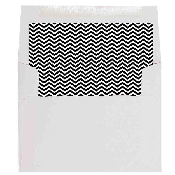 black chevron envelope liner