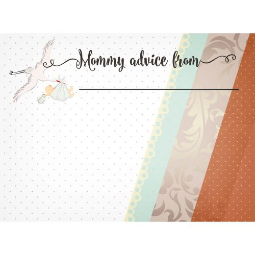 stork mommy advice card
