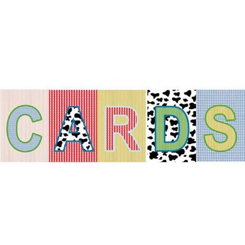 baby barnyard animal card sign