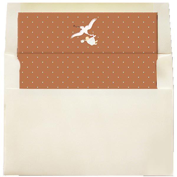 vintage stork envelope liner