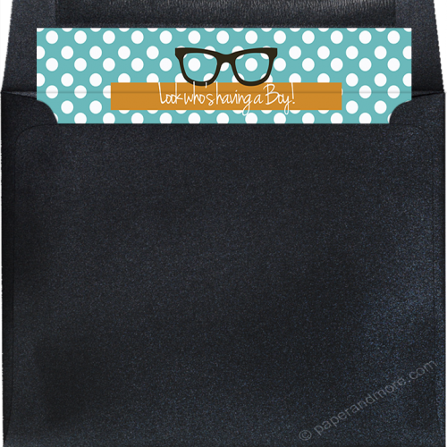 little man mustache envelope liner