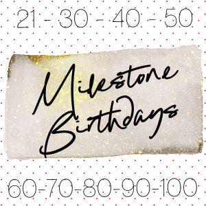 Milestone birthday party planner