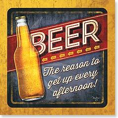 Beer theme beverage napkin
