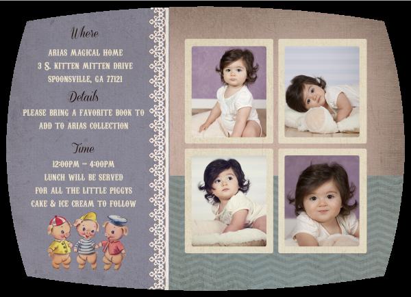 Vintage Nursery Rhyme Birthday Invitation