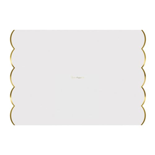 gold foil scalloped placemat