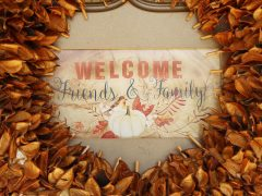 thanksgiving welcome sign
