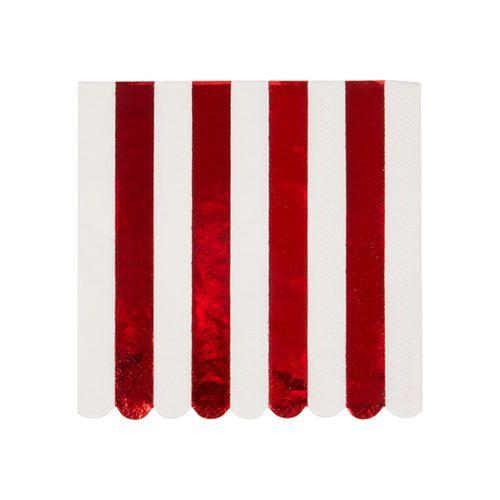 Shiny Red Stripe Napkin