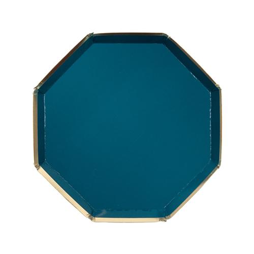 Dark Teal Green Plates
