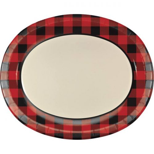 "12"" oval buffalo check plate"