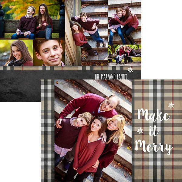 traditional burberry plaid photo greeting card