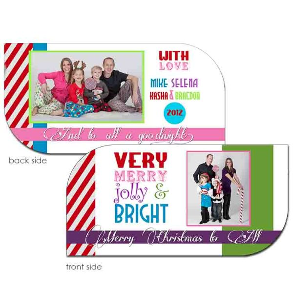 bright candy holiday greeting card