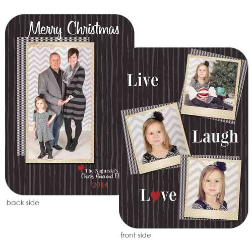live laugh love holiday greeting card