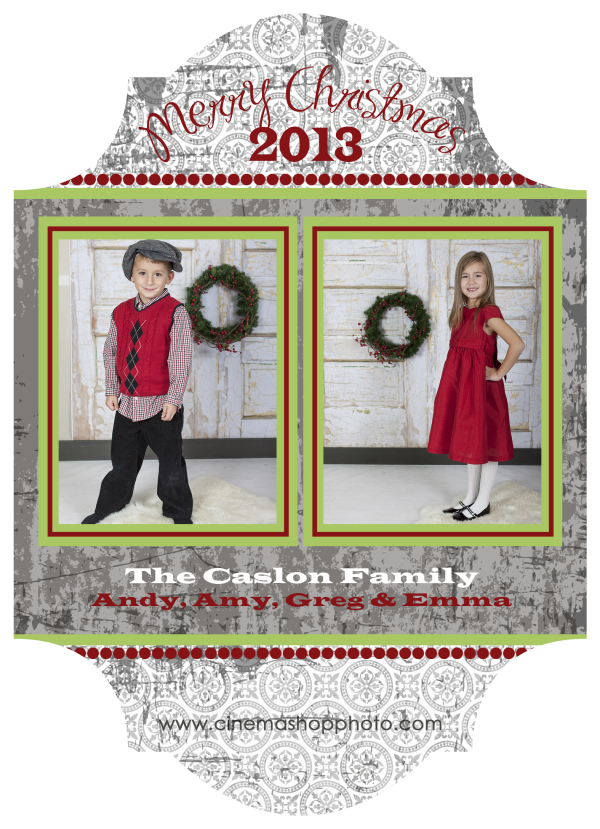 classic holiday photo greeting card
