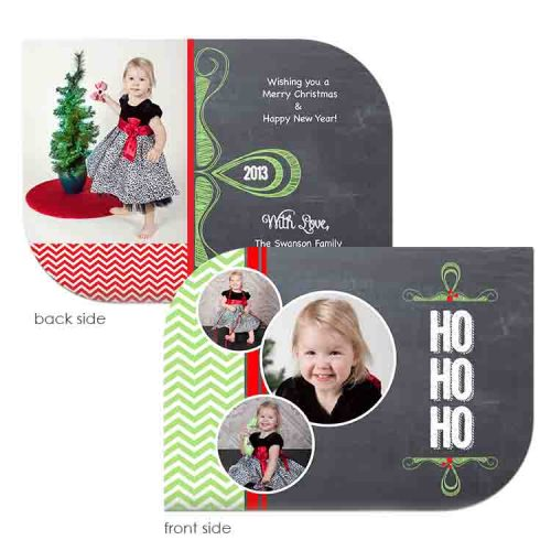 chalk and chevron holiday card