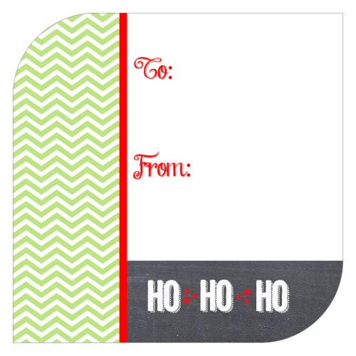 Chalk and Chevron Holiday Gift Sticker