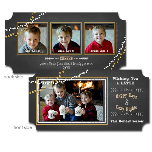 chalk and lights holiday greeting card