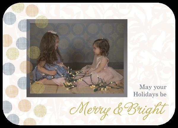 pastel polka dot holiday greeting card
