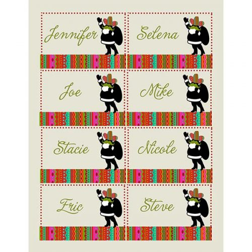 spanish santa holiday name place cards