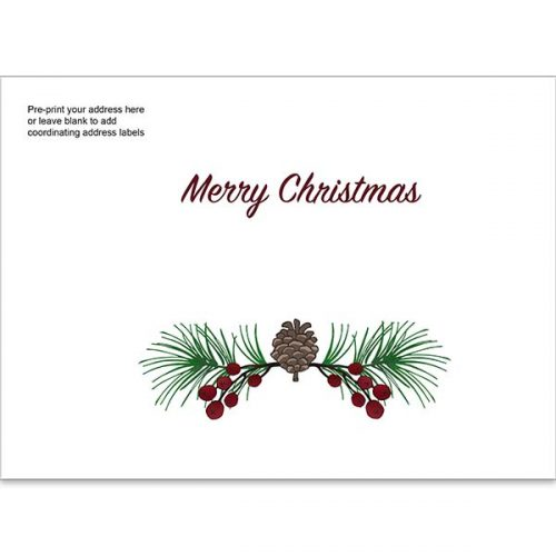 holiday garland custom printed envelope