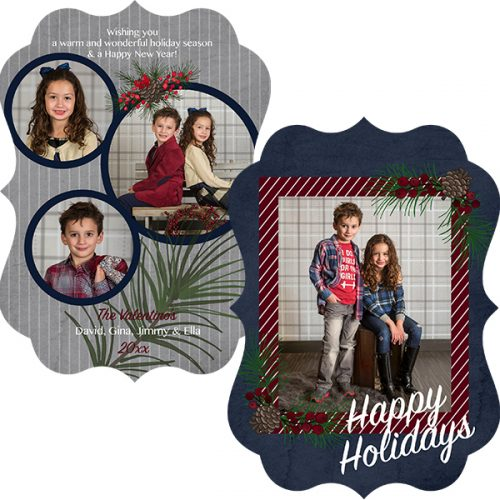 holly berry photo greeting card