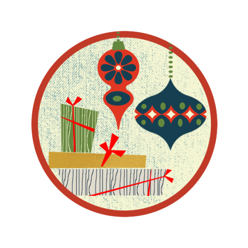 ornament and gift envelope seal