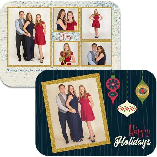 swanky ornamnent holiday photo greeting card